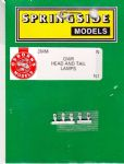 Springside N1- N Scale GWR Head & Tail Lamps White (5)